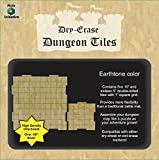 "Role 4 Initiative Dry Erase Dungeon Tiles, Earthtone, Combo Set of five 10"" and sixteen 5"" interlocking squares for role-playing and miniature tabletop games"