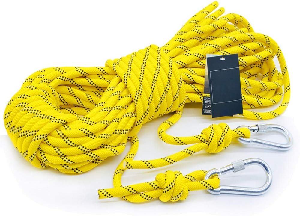 YIN YIN Equipo al aire libre Cuerda de seguridad, 10mm cuerda ...