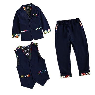 e70ece217d7b1 the raki 子供花柄スーツ 男の子スーツ フォーマルスーツ 3点セット 子供タキシード 男の子