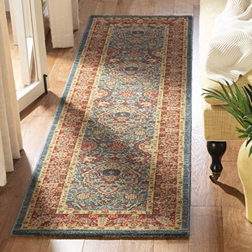Mahal Rug Runner - Safavieh Mahal Collection MAH655C Traditional Oriental Navy and Red Runner (2'2