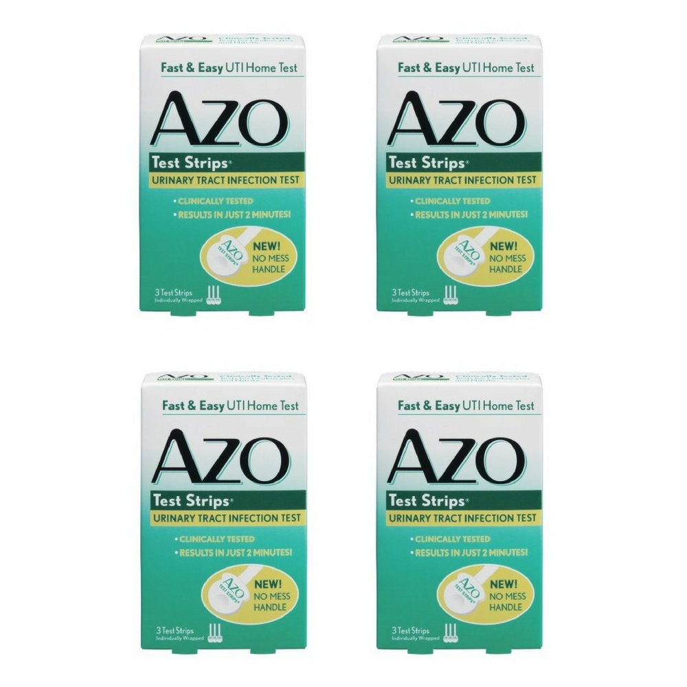 AZO Test Strips Urinary Tract Infection Test - 3 CT (4 Pack)