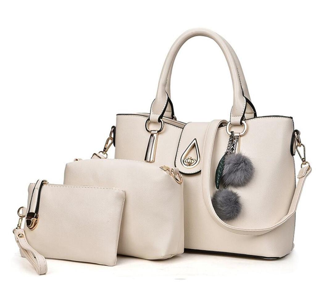 BAO Damenmode-Tasche Kindermastpaket Einfaches PU-Leder Portable + Single Schulter + Brieftasche Dreiteiliges Set 5 Farben