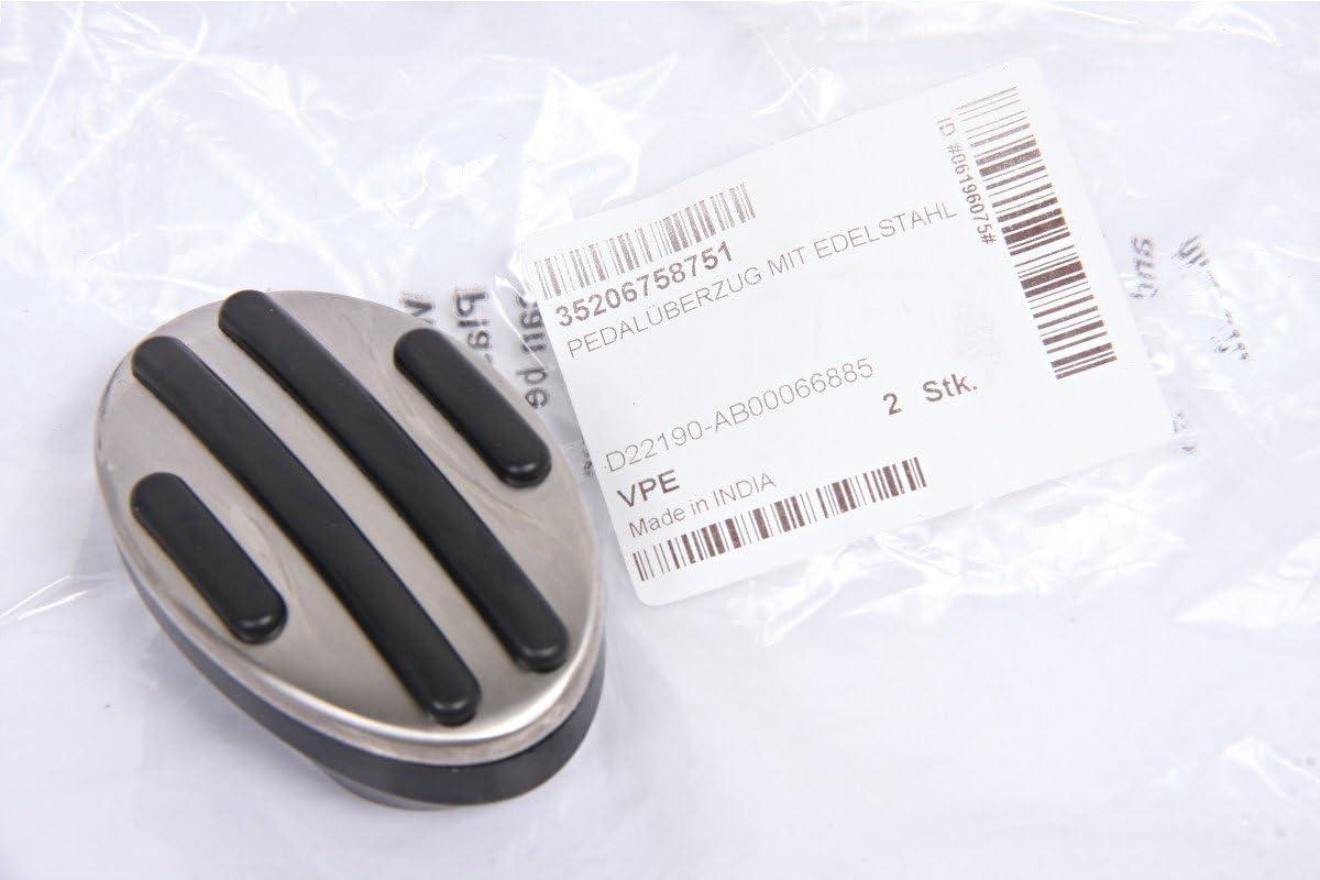 in acciaio INOX Rivestimento originale per pedale del freno F56 R56 adatto a mini R53