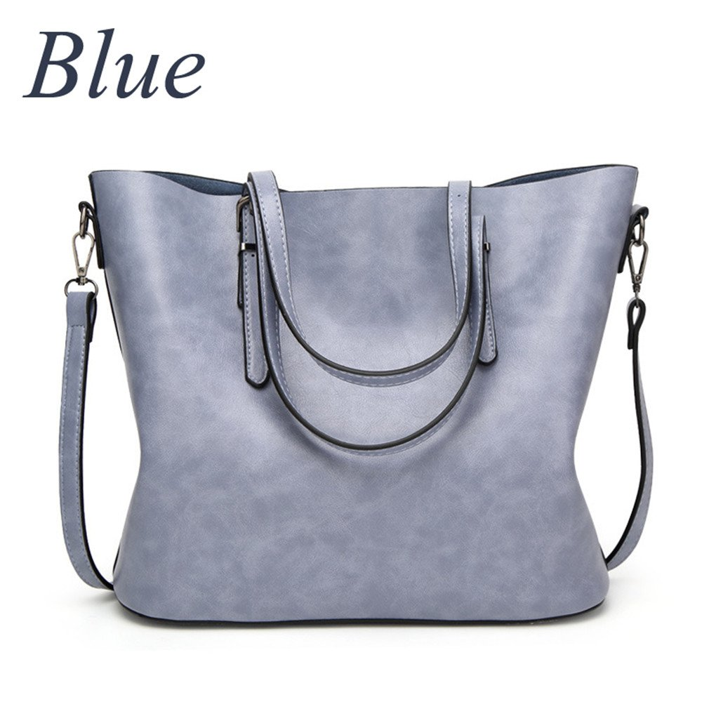 Women Handbags Big Tote Bags Crossbody Bags For Women Leather Handbags Oil Wax Leather Retro Womenbag Blue About 32cm 12cm 29cm