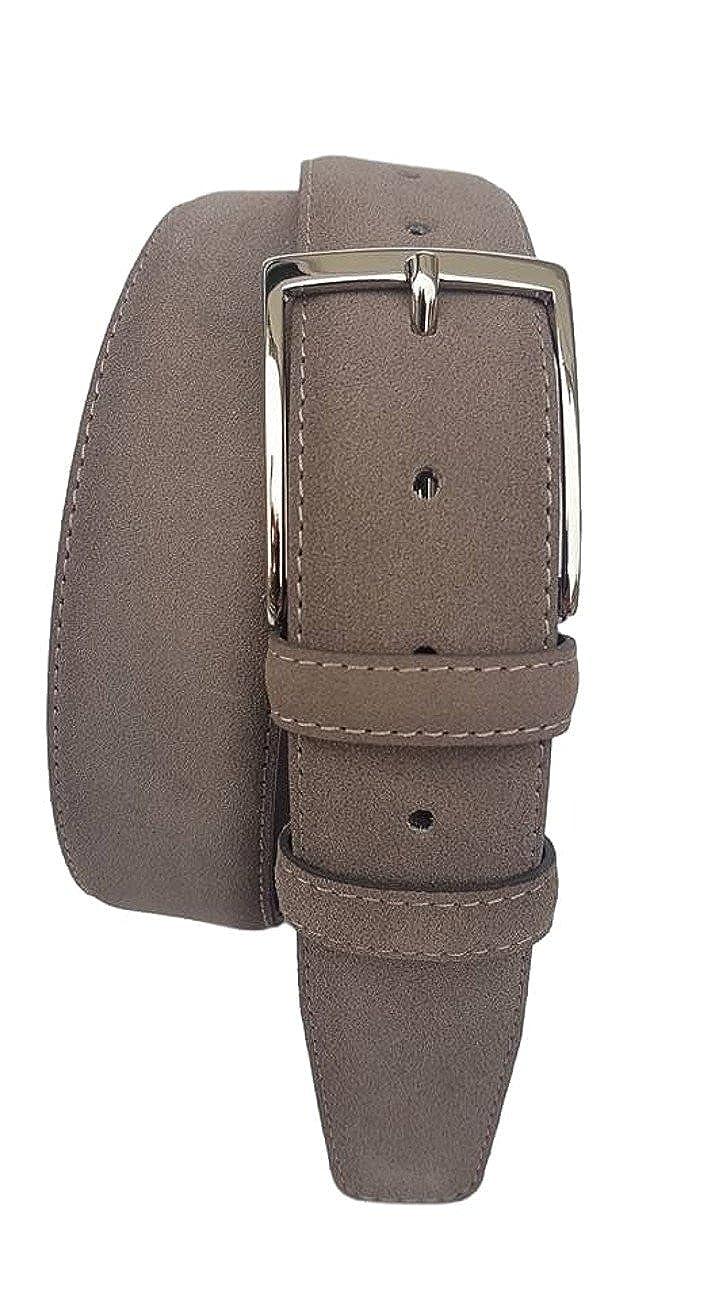 ESPERANTO Cintura uomo pelle scamosciata fodera cuoio 4cm unisex