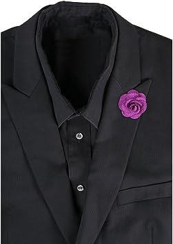 LEORX Camelia flor en el ojal solapa corbata Pin broche para ...