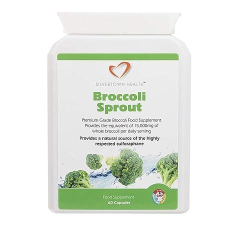 Cápsulas de brote de brócoli, 60 cápsulas * Aporte por ración diaria: extracto de