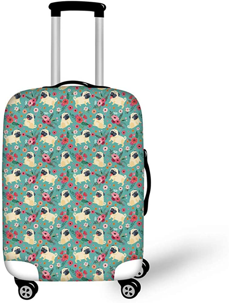 Showudesigns Elastic Printing Animal Travel Luggage Protective Dust Cover