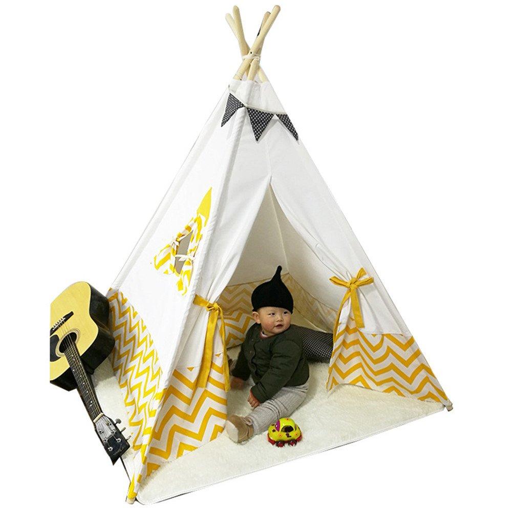 Rwy Innenpuzzle-Baumwollzelt-Baby-Geschenke Scherzt Gelbes Zelt-Spiel-Spiel-Haus,Gelb