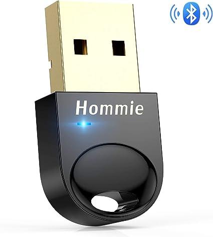 Hommie Bluetooth USB PC, Bluetooth 4.0 USB Adaptador Pendrive con ...
