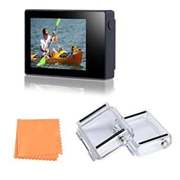 sports shoes a9feb b87f8 Vicdozia 2.0 Inch LCD BacPac External Monitor Display Viewer Non-Touch  Screen for Gopro Hero 4 3+ 3 with Waterproof Back Cover Protective Case