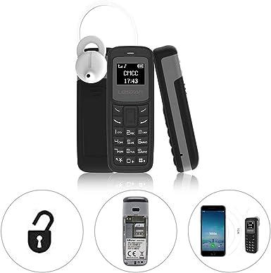 L8STAR BM30 - Mini teléfono SIM TF tarjeta de 0,66 pulgadas desbloqueado GSM teléfono celular inalámbrico auricular bluetooth marcador auricular móvil con cambio de voz Mp3: Amazon.es: Electrónica