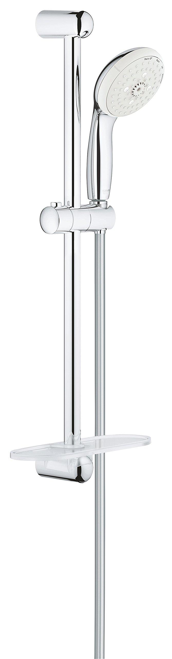 GROHE 28436002 Tempesta Classic 2.5 GPM 24'' 4-Spray Shower Rail Set, Starlight Chrome