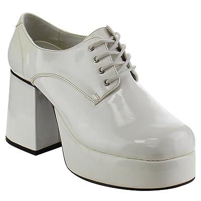 Ankle Boots, Women's Block Heel Front Lace Up Disco Platform Punk Pumps Shoes