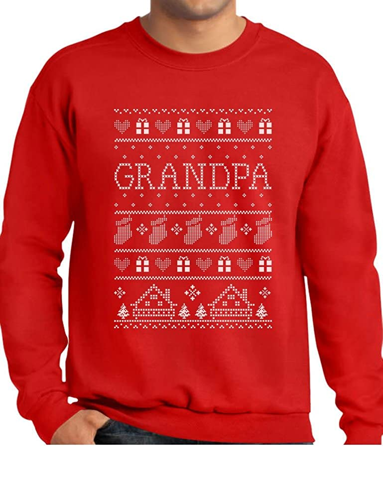 TeeStars - Funny Grandpa Ugly Christmas Sweater Xmas Gift for Papa Sweatshirt GhPh3lrgf