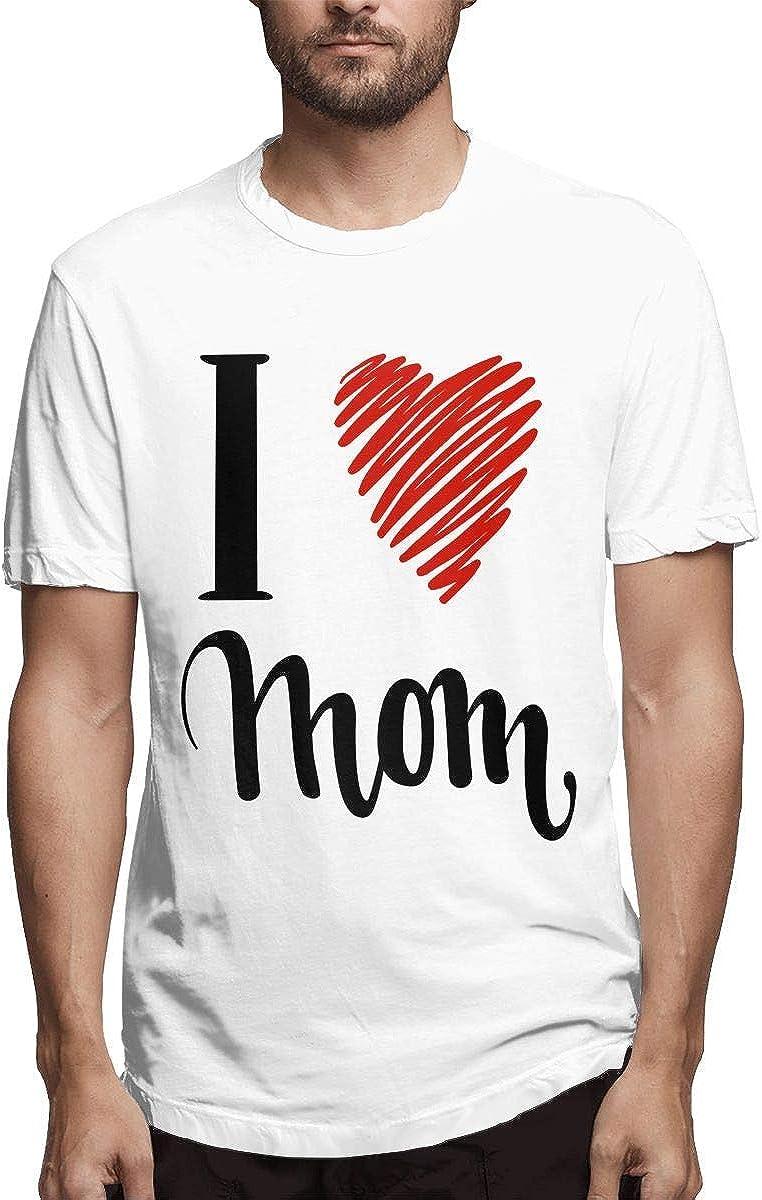 Hombre Impreso Cómodo Te Amo Mamá. Te Quiero. Camisetas de Manga Corta: Amazon.es: Ropa y accesorios