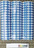 """Party Dekoration """" Bayrisch Blau """" Teller Girlande Servieten /// (Luftschlangen 3 Stangen)"""