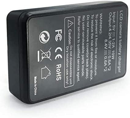 LP-E6 Batería de Repuesto Smart LED Cargador Dual USB para Canon ...