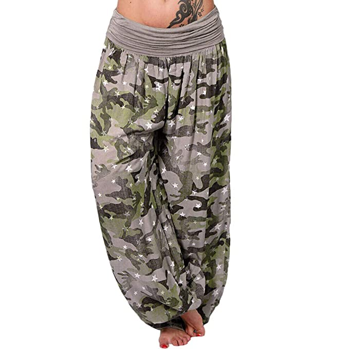 Severkill Womens Harem Pants Camouflage Bohemian Clothes ...