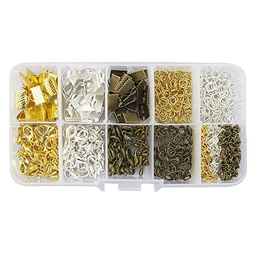 """LolliBeads (TM) 10mm(3/8"""") Assorted Size Silver Gold Anti..."""