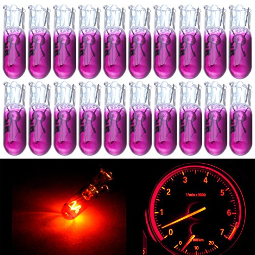 cciyu 20 Pack T5 17 86 206 Halogen Light Bulb Instrument Cluster Gauge Dash Lamp 12V (Lexus Instrument Cluster)