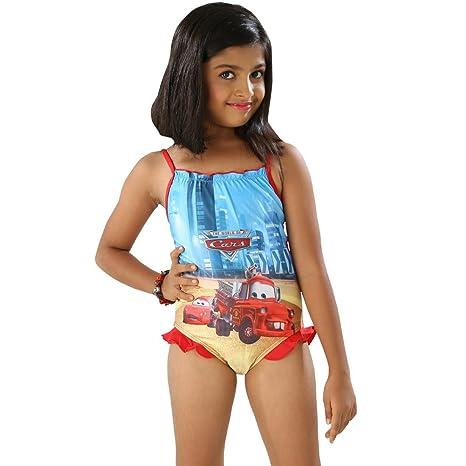 c6794b68ea048 The Little Princess-Girls Enjoyable Multi Color Scoop Neck One Piece Swim  suit (3