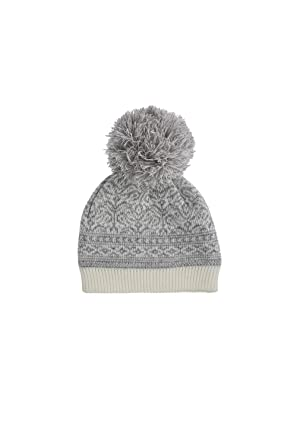 2d9bb6ff323 Dents Womens Nordic Pattern Hat with Pom Pom - Winter White Silver One Size  Winter White Silver  Amazon.co.uk  Clothing