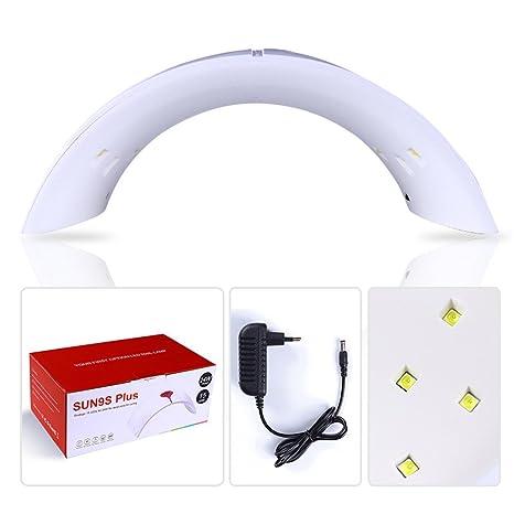 CoulorButtons 1pcs 24 W blanco LED lámpara UV secador de uñas Arc forma Gel UV Polaco