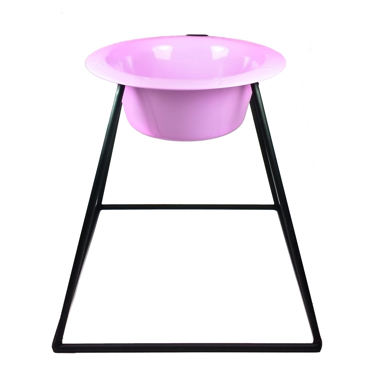 Platinum Pets Platinum Pets 4-Cup Pyramid Single Diner Stand with Wide Rimmed Bowl, Sweet Lilac