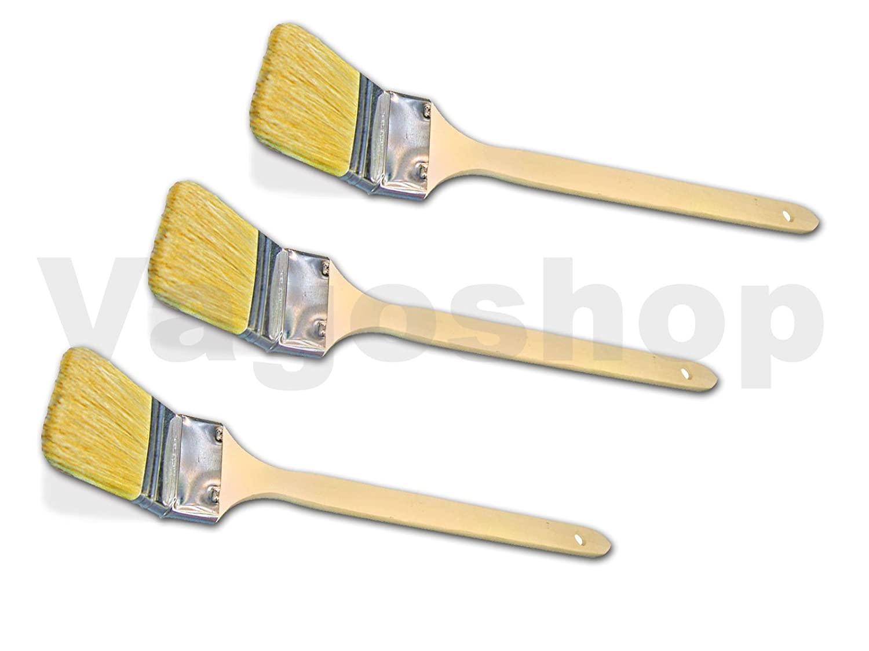 6 x Heizk/örperpinsel 50 mm Pinsel Eckpinsel Flachpinsel Malerpinsel Eckenpinsel