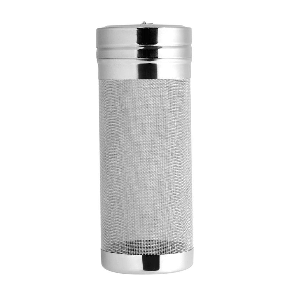 300 Micron Stainless Steel Mesh Beer Filter Household Bottling Tube Dry Hopper for Homemade Brew Home Coffee