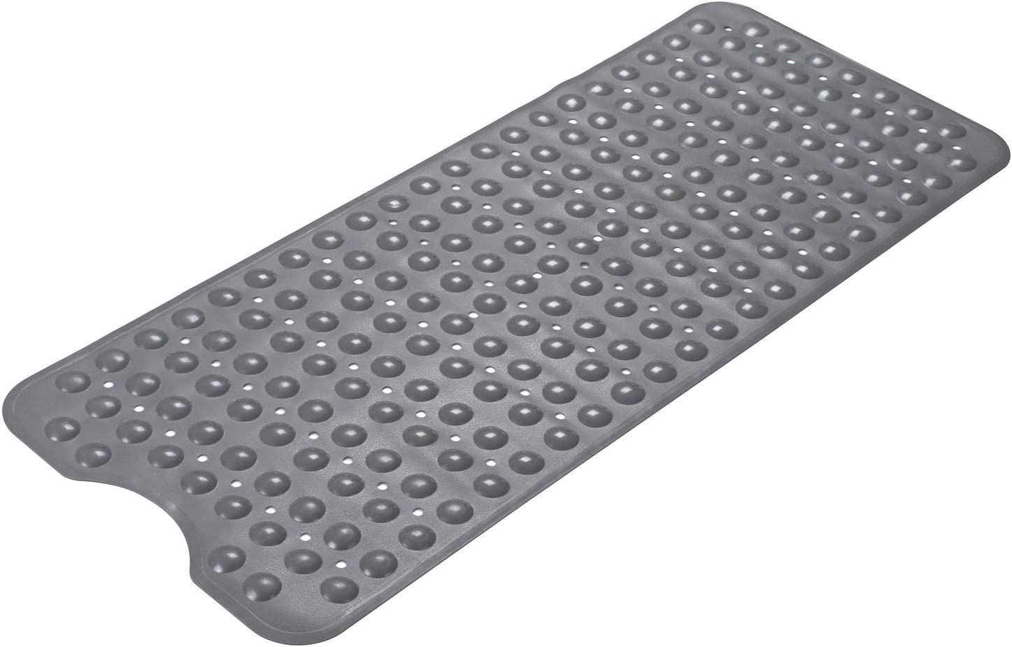 AmazerBath Bath Tub Mat, Larger Suction Cups Bath Mats with Strong Grip, Safe TPE Material, Machine Washable, Non-Slip Shower Mats for Bathroom, 39 x 16 Inches (Grey)
