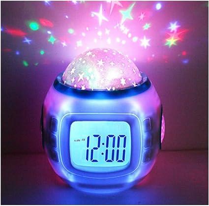 Hangang Despertador Infantil Dormir Reloj Cambio De Color Estrella ...