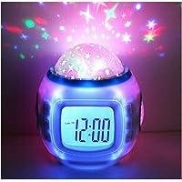 Hangang Despertador Infantil Dormir Reloj Cambio De Color