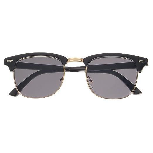 64aafa8cb30a5 Classic Iconic Retro Classic Style Half Frame Horn Rimmed Sunglasses  (0Black Gold