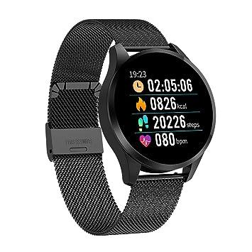 Hswt Montre connectée Surveillance de la fréquence Cardiaque IP67 étanche Traqueur de Fitness Calories Podomètre Cadeau