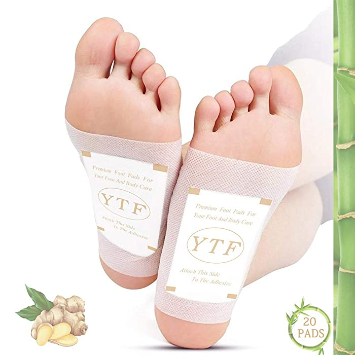 Foot Pads | Ginger Foot Pads for Your Good Feet | Foot and Body Care | Apply, Sleep & Feel Better | All Natural & Premium Ingredients for Best Combination & Results | 20 PCS