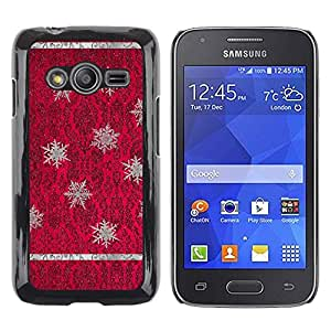 LECELL--Funda protectora / Cubierta / Piel For Samsung Galaxy Ace 4 G313 SM-G313F -- Red Purple Vintage Wallpaper --