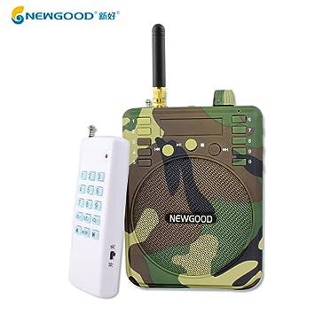 newgood 1000 metros mando a distancia camuflaje color al aire libre MP3 Altavoz Amplificador de sonido