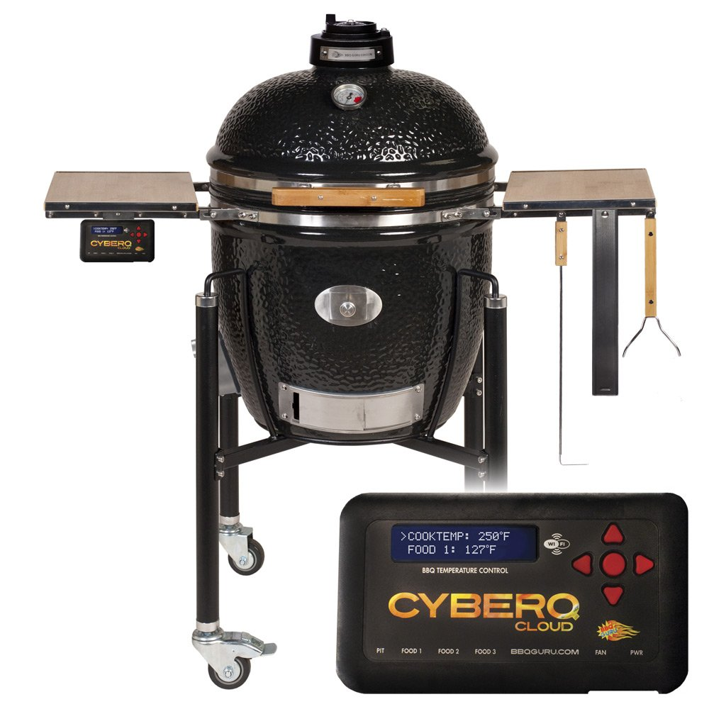 Monolith BBQ Guru Edition Classic with CyberQ Cloud Temperature Controller and 1 Food Probe