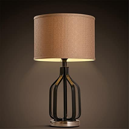 Lámparas de Escritorio Vintage Tela LampShades Lámpara de ...