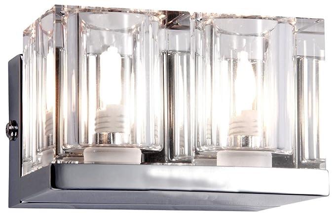 Lampada da parete design applique cromo vetro cristallo lampada