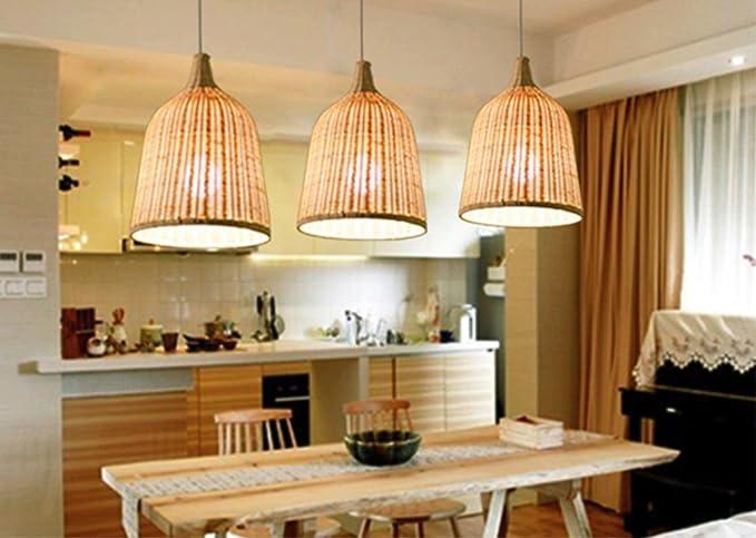 Rattan lampadario suedostasien stile lampade da soffitto rattan in