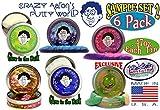 Crazy Aaron's Thinking Putty Mini Tin Gift Set Bundle (Sample Set 2) with Krypton, Twilight, Amethyst Blush, Super Lava, Aura & Exclusive ''Lizard Lips'' Hypercolor - 6 Pack
