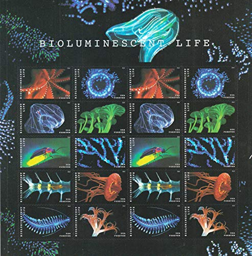 Halloween Postage Stamps (Forever Stamp: Bioluminescence (1 Sheets (20)