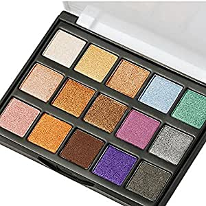 DONGXIUB Lasting Eyeshadow Makeup Palette Travel 15 Colors Shimmer Giltter Cosmetic Eye Shadows Makeup Pallet