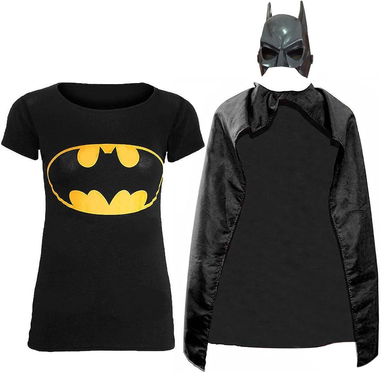New Ladies manga corta Batman y Superman Camiseta Capa de ...