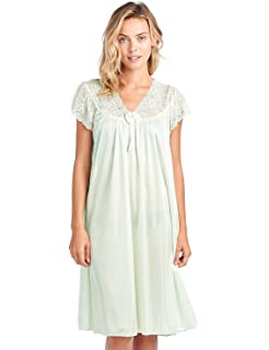Casual Nights Women s Cap Sleeve Flower Silky Tricot Nightgown at ... 44a21c58b