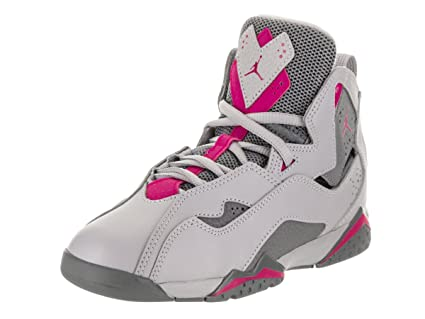 quality design a2521 6e8c3 Jordan Air True Flight Preschool Wolf Grey Deadly Pink Cool Grey 12 M US  Little Kid