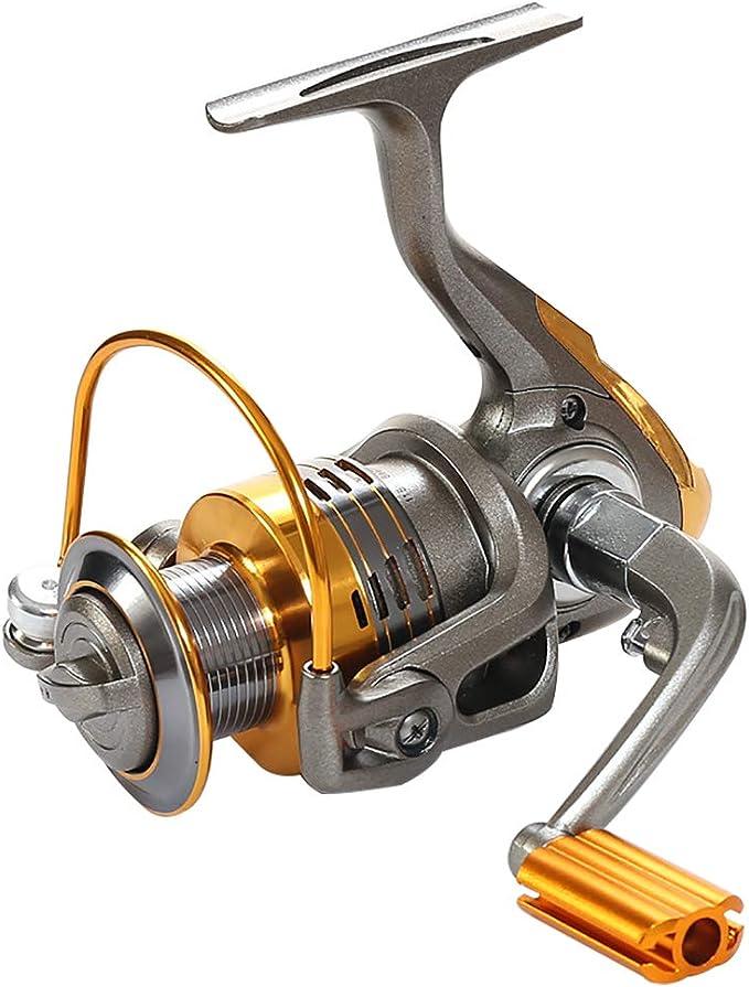 FXMJ Giratorio De Pesca Spinning, Diseño Ligero Carrete De La ...